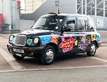 4 Car - City-Wide Exposure for your business - Jigsaw Taxi Advertising - City Council ( Black Hackney Taxis)