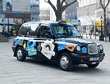 1 Car - City-Wide Exposure for your business - Jigsaw Taxi Advertising - City Council ( Black Hackney Taxis)